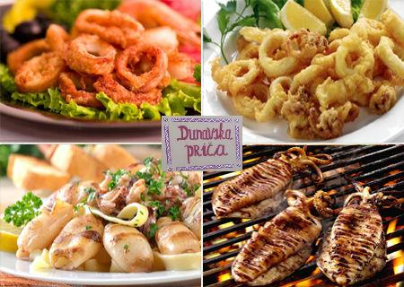 Samo 649 din 2 porcije pohovanih ili lignji na žaru sa prilogom, 2 riblje čorbe i 2 dezerta u restoranu Dunavska priča!