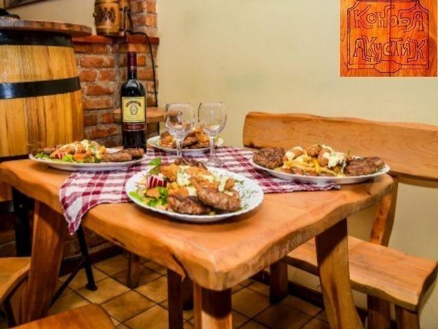 Samo 519 din leskovački uštipci, leskovačka kobasica, ćevapi i bela vešalica za dvoje + dezert restoran Konoba akustik Dorćol!