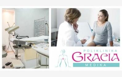 Samo 2000 din kompletan ginekološki pregled sa ultrazvukom (pregled, kolposkopija, PAPA, VS) u poliklinici Gracia medika, centar