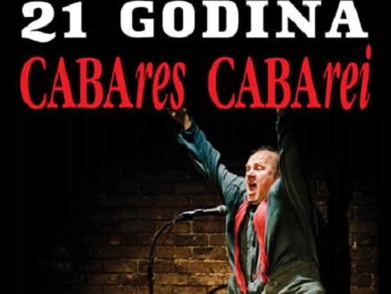 Samo 500 din za predstavu CABARES CABAREI, u pozorištu Slavija, termin: 21.10.2017! Kralj monodrame Zijah A. Sokolović.